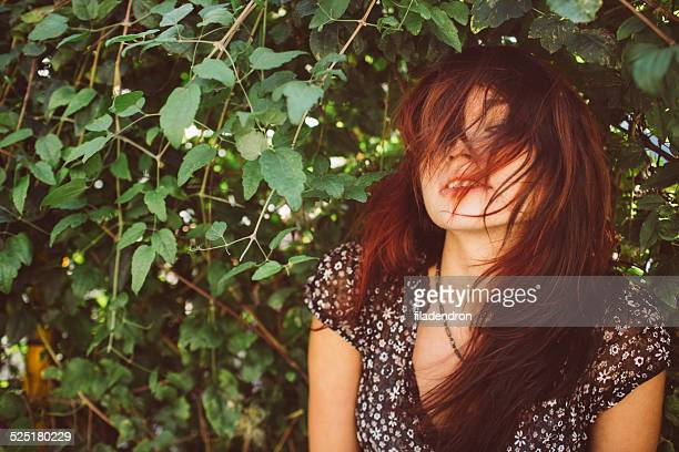Girl in the bushes