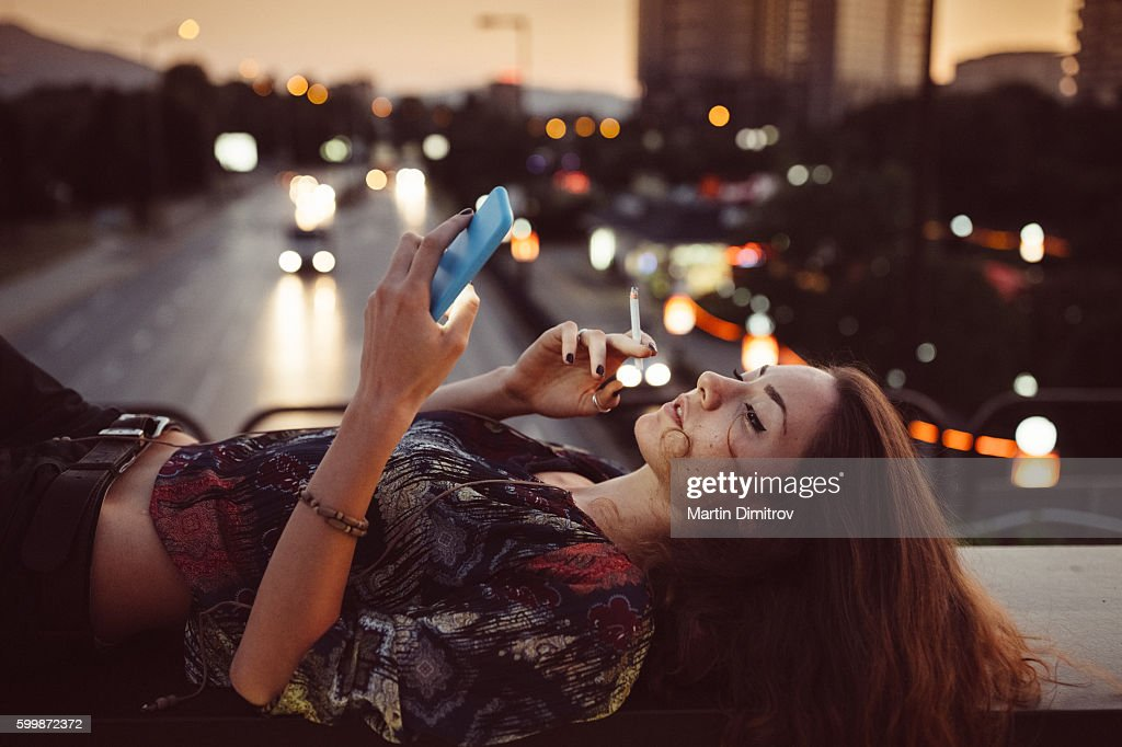 Girl in the city : Stock Photo