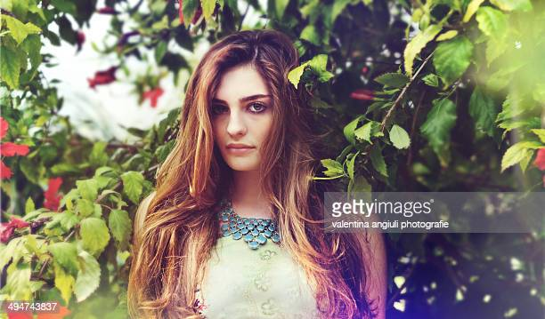 girl in the nature - two tone color stock pictures, royalty-free photos & images