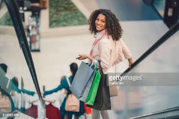 Girl in the shopping center