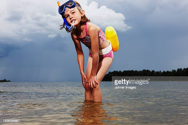 A girl in the water, Sweden.
