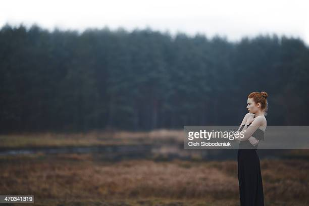Girl in the wood
