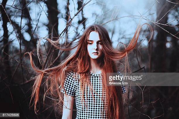 girl in the wood - poet stock pictures, royalty-free photos & images