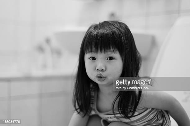 girl in toilet
