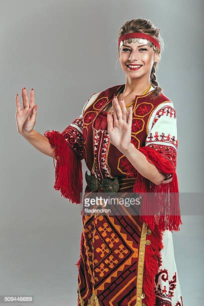 girl in traditional dress - bulgaria stock pictures, royalty-free photos & images