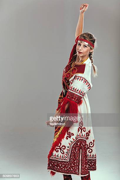 girl in traditional dress - traditional ceremony stock pictures, royalty-free photos & images
