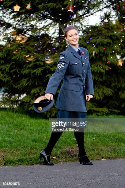 RAF girl in uniform