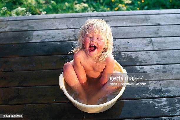 Girl in Washbowl