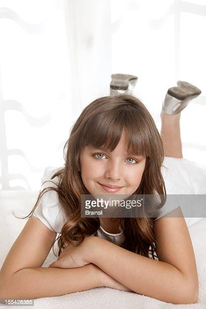 girl in white dress - communion stock pictures, royalty-free photos & images