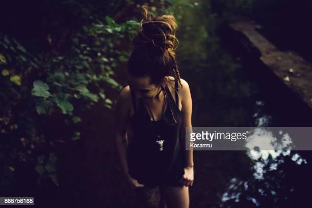 Girl In Wilderness