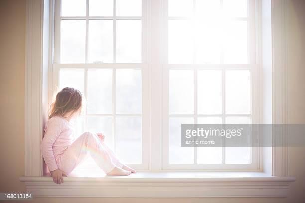 Girl in windows