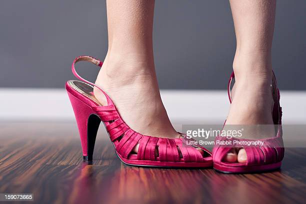Girl in Women's Shoes