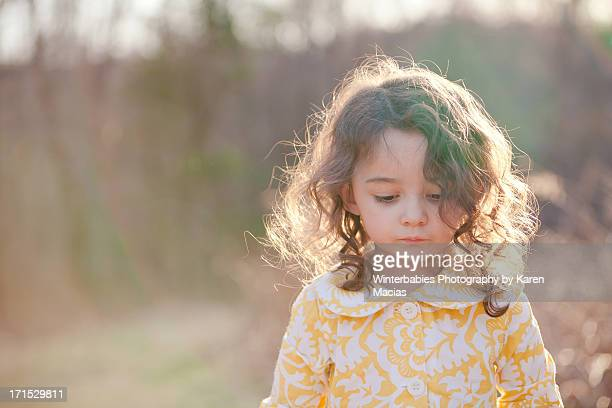 Girl in Yellow Spring dress