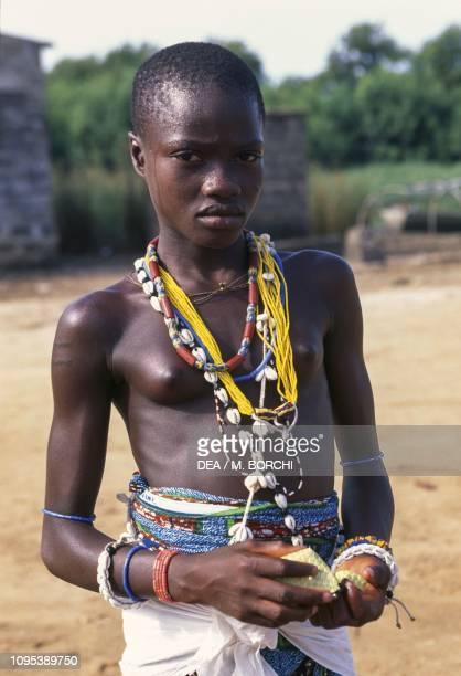 A girl initiated to voodoo rituals GrandPopo Benin