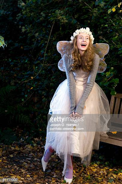 a girl is dressed as a woodland fairy - joseph o. holmes stock pictures, royalty-free photos & images