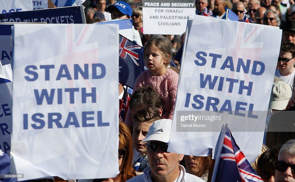 Pro-Israeli Rally Held In Sydney : News Photo