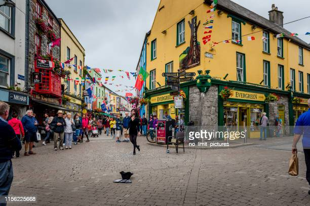 girl is tap dancing in galway - county galway stock pictures, royalty-free photos & images