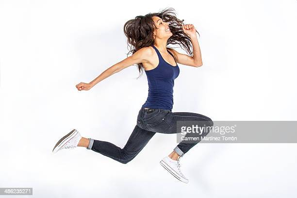 Girl jumping!