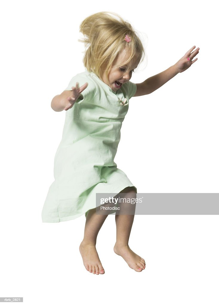 Girl jumping : Foto de stock