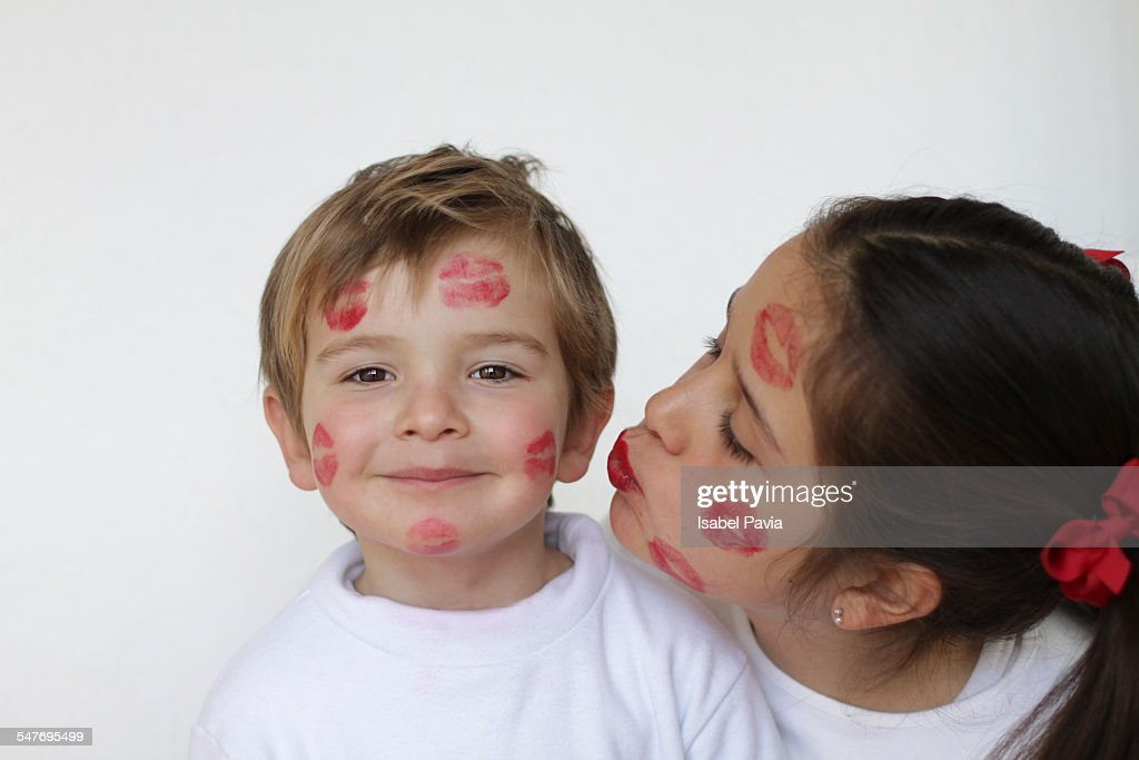 Girl kissing little boy stock photo getty images girl kissing little boy altavistaventures Images