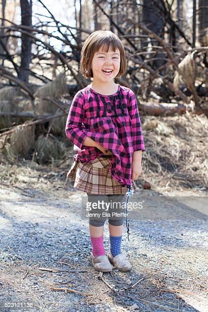 Girl (2-3) laughing