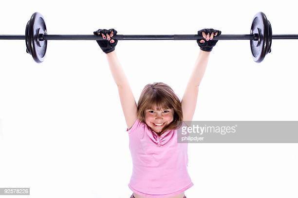 Girl Lifting Weights 4