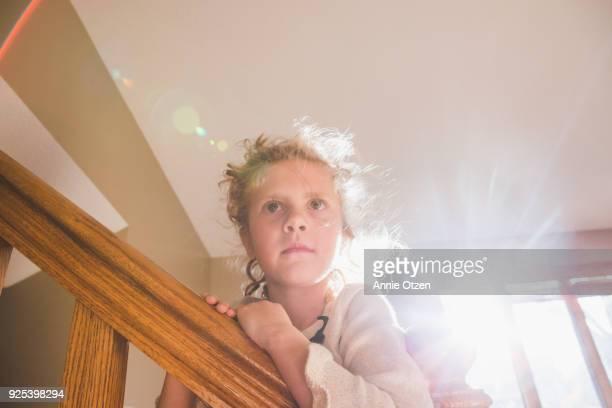 Girl Lit by Glowing sunlight