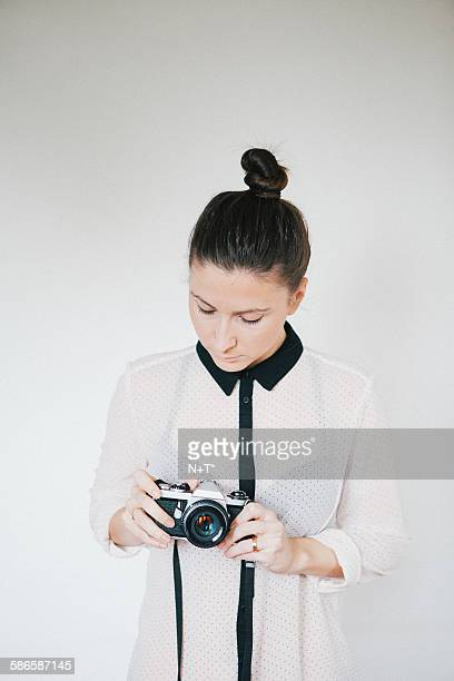 girl looking at camera - n n girl model stock photos and pictures