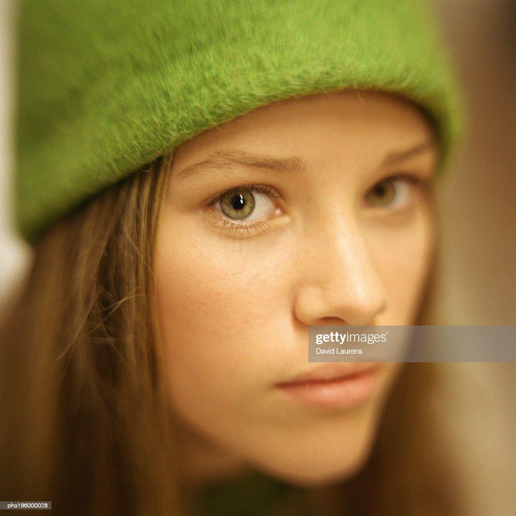 Girl looking at camera, portrait. : Stockfoto