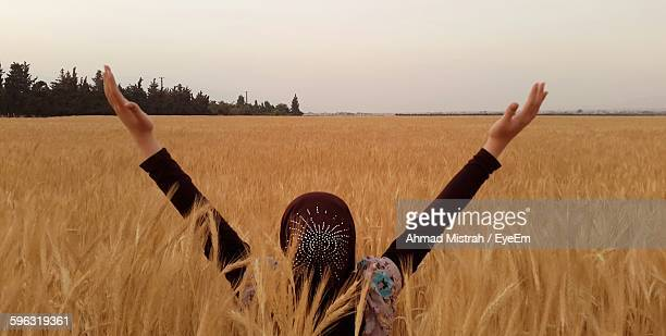 Girl Looking At Field