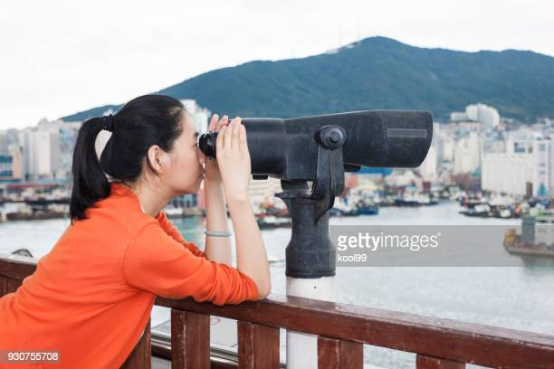 Girl Looking at the telescope