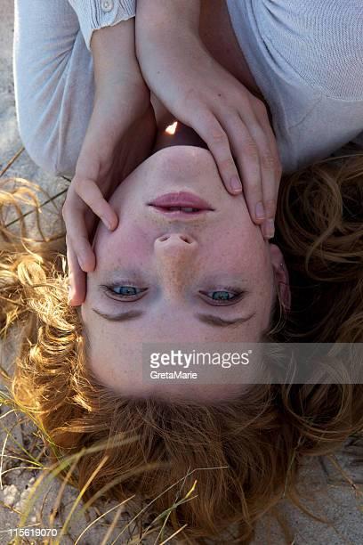 Girl looking in camera