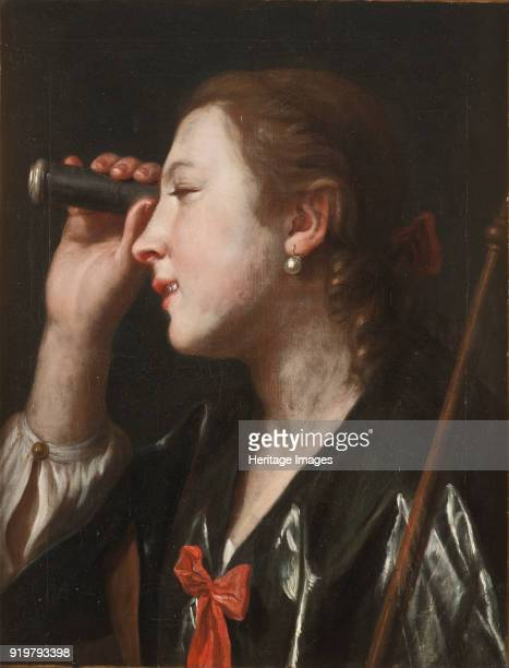Girl Looking through a Telescope Found in the collection of Nationalmuseum Stockholm