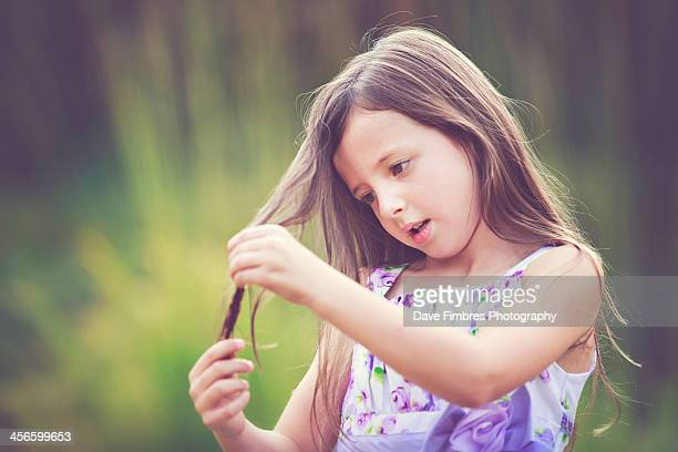 girl lost in thought - fairfax county virginia stock photos and pictures