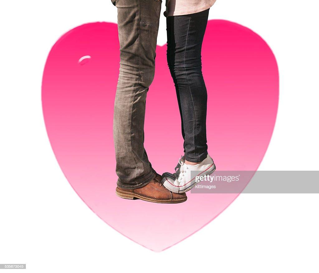 Mädchen Füße küssen Mädchen Das erste