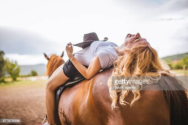 Girl loves her horse