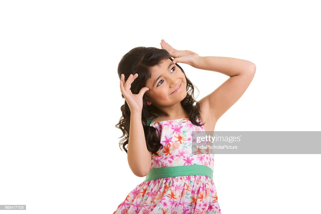 Girl making a teasing face : Stock Photo