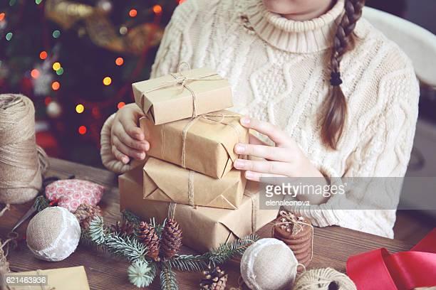 クリスマスの女の子をは