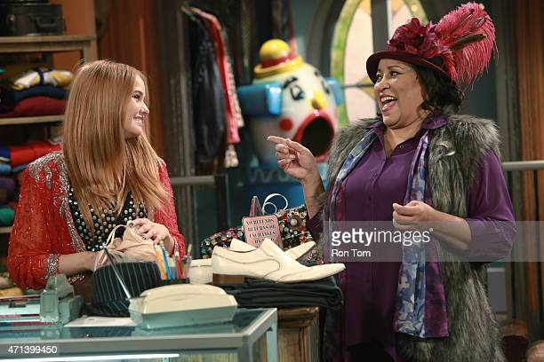WORLD 'Girl Meets What the What' Riley and Maya meet Aubrey salesgirl who manipulates them into using Topanga's credit card for an expensive purchase...