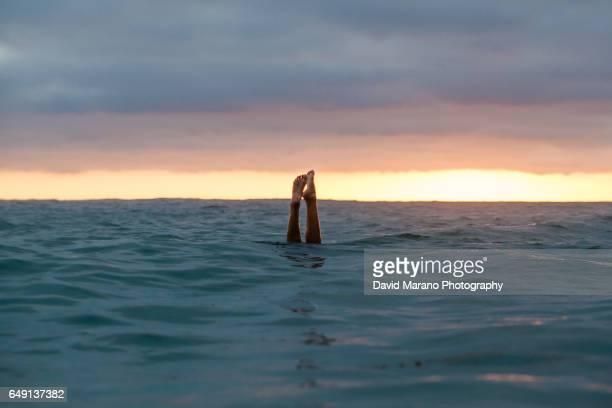 Girl Ocean Swim