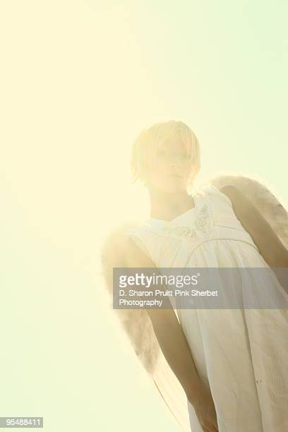 a girl of an angel - overexposed stock pictures, royalty-free photos & images