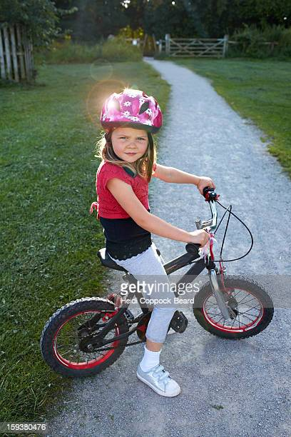 girl on a bicycle - heidi coppock beard bildbanksfoton och bilder