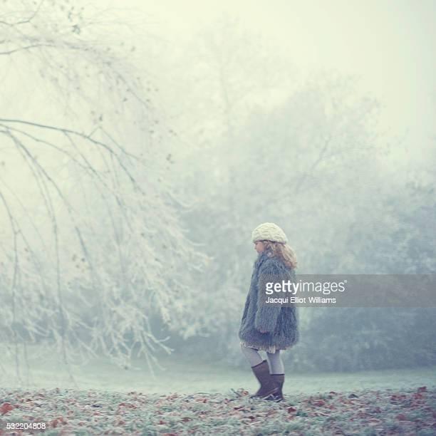Girl on a foggy day