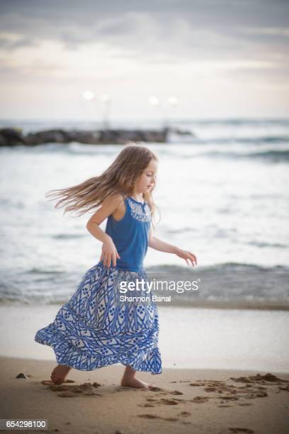 Girl on Beach in Waikiki