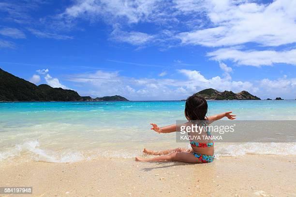 Girl (3 yr) on Beach