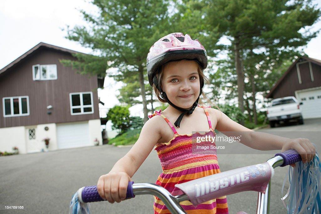 Girl on bicycle : Stock Photo