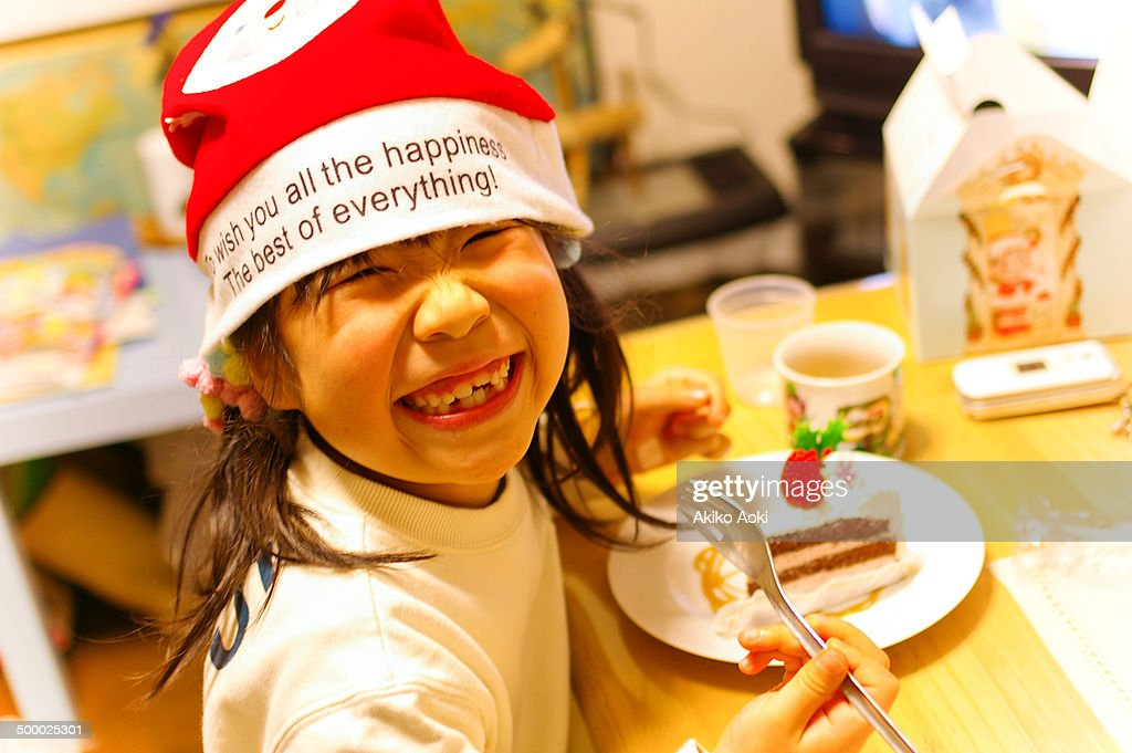 Girl on Christmas : Stock Photo