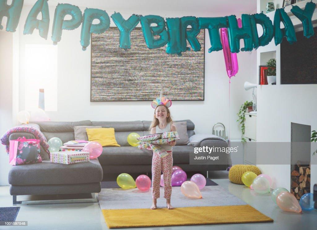 Girl on her Birthday : Stock Photo