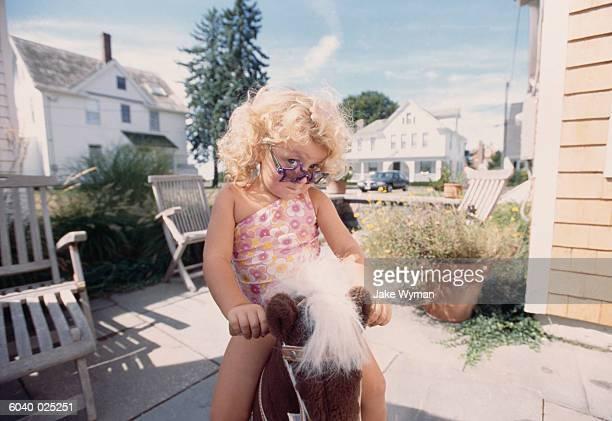Girl on Hobby Horse