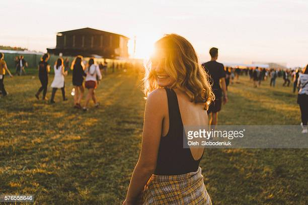 Girl on music festival